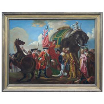 Oil Painting after 'Robert Clive And Mir Jafar After The Battle Of Plassey 1757' by Francis Hayman