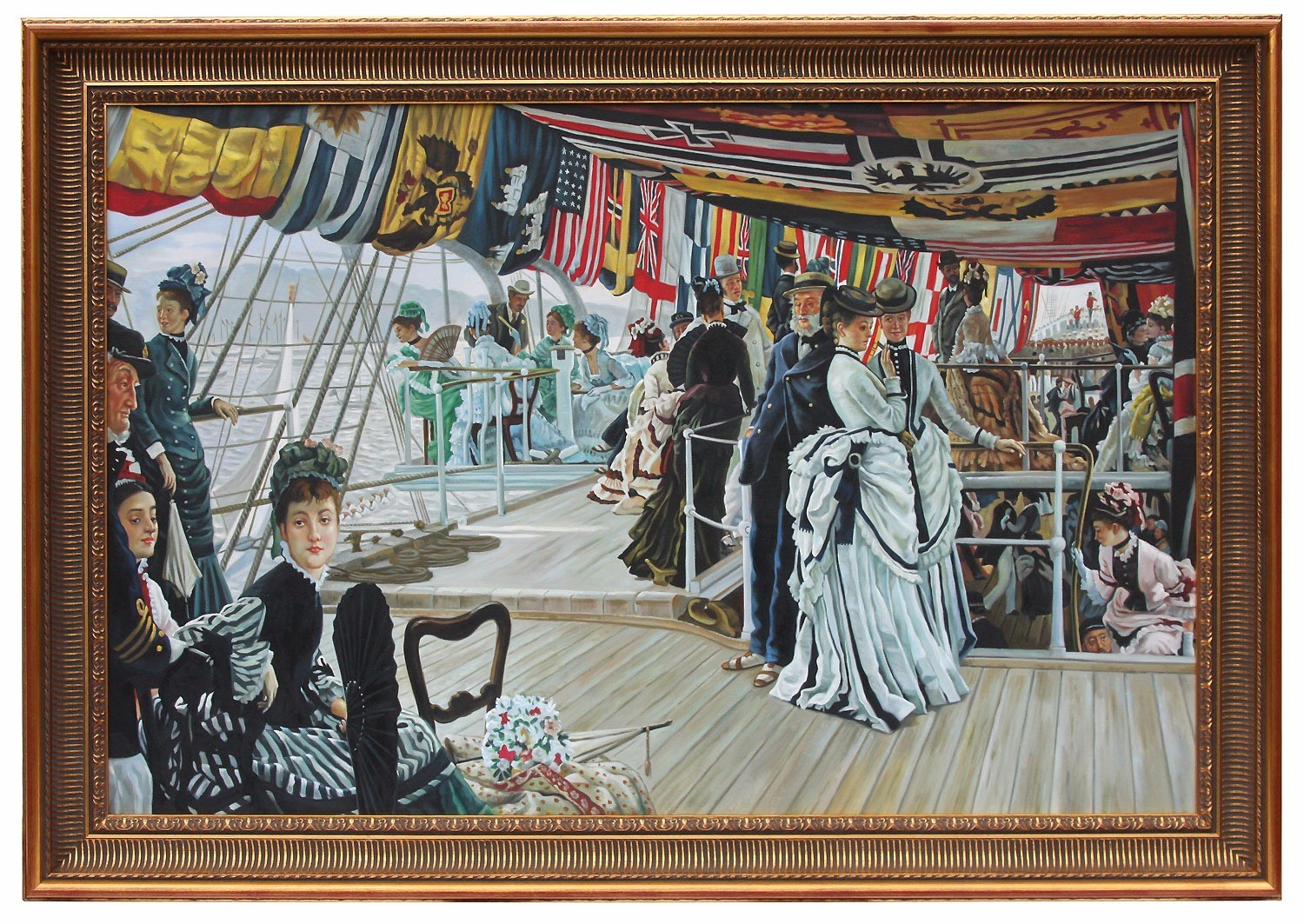 Oil Painting after 'The Ball On Shipboard' by  James Tissot