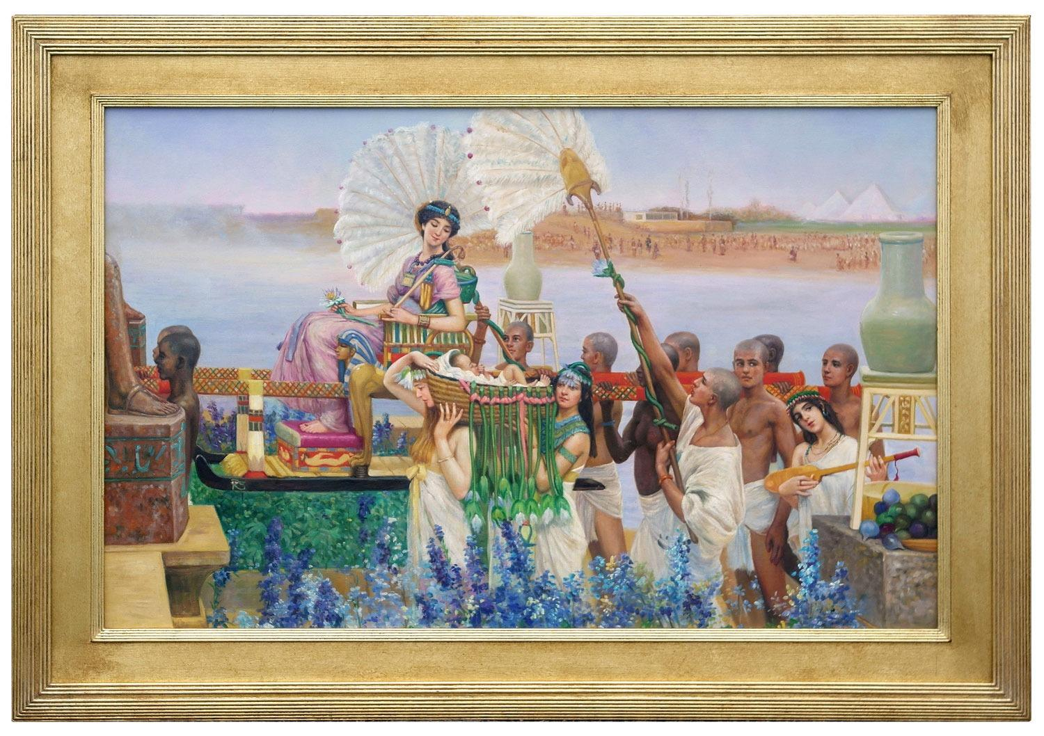 Oil Painting after 'The Finding Of Moses' by Sir Lawrence Alma-Tadema