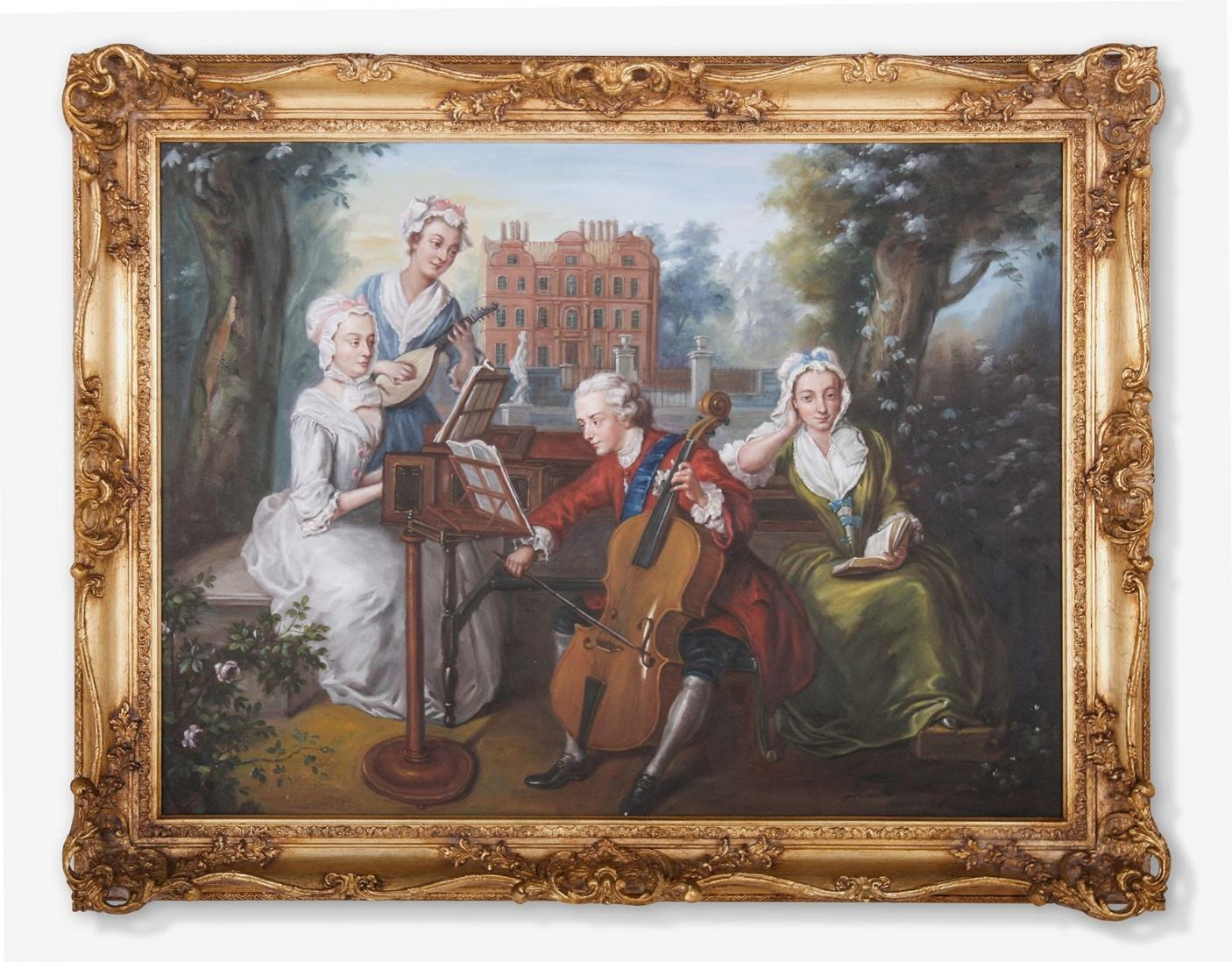 Oil Painting after 'The Music Party' by Philip Mercier