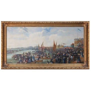Oil Painting after 'The Oxford and Cambridge Boat Race' by JB Allan