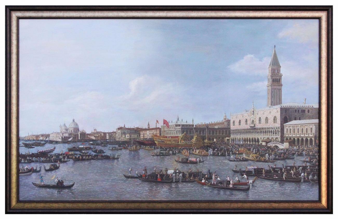 Oil Painting after 'Venice: The Basin of San Marco on Ascension Day' by Canaletto