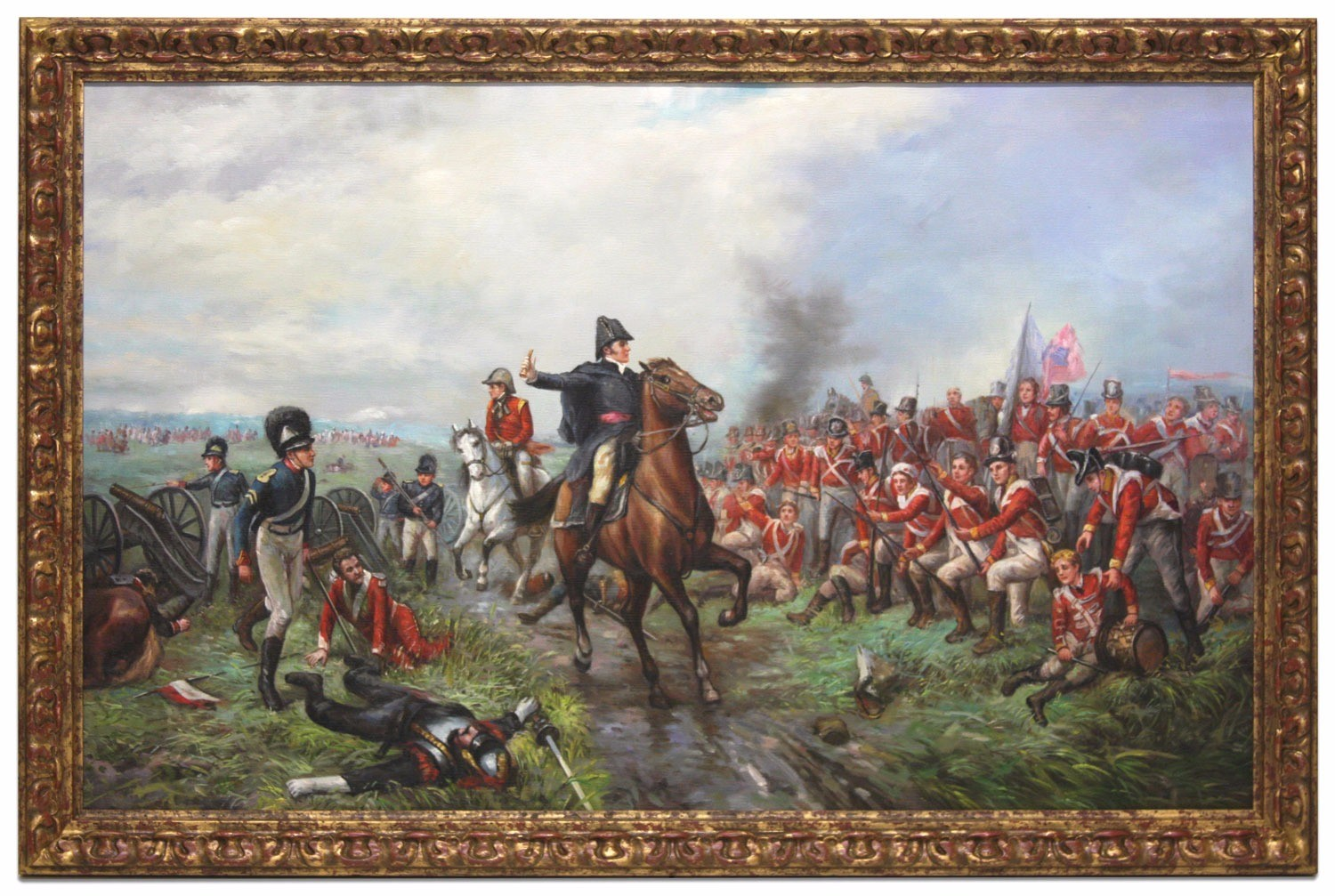 Oil Painting after 'Wellington at Waterloo' by Robert Alexander Hillingford