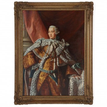 Oil Painting of King George III after Allan Ramsay