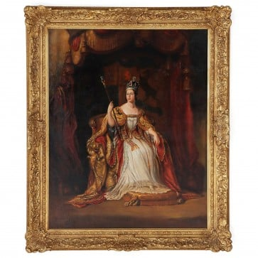 Oil Painting of Queen Victoria after Sir George Hayter