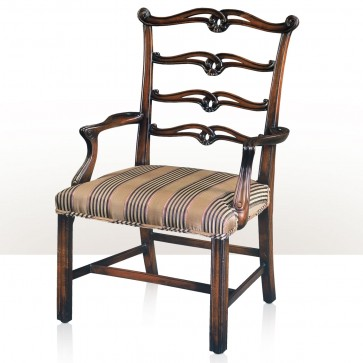 Original George III style hand carved Chippendale children's armchair