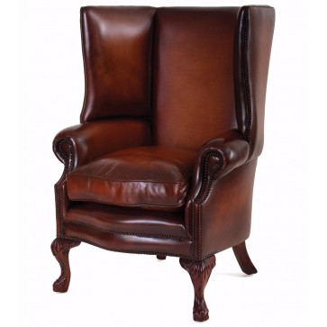 Osbourne Leather Wing Chair