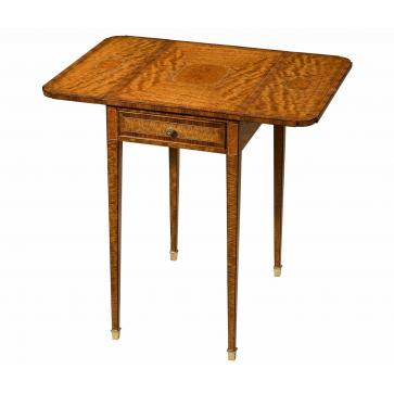Pembroke table in figured Amarello and rosewood