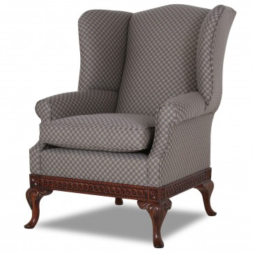 Pride Regency style wing chair in Linwood Selborne
