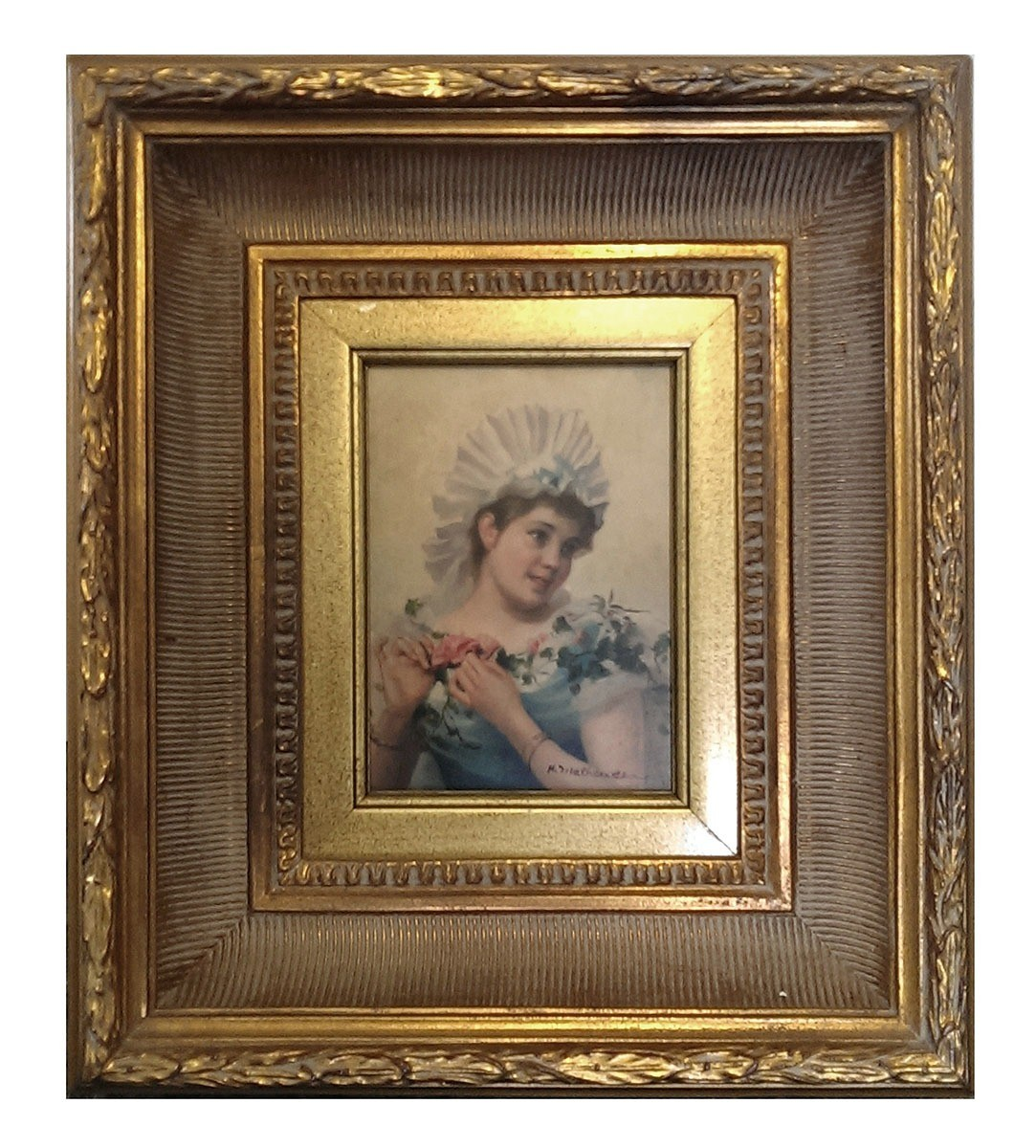 Print of a lady in a period style frame