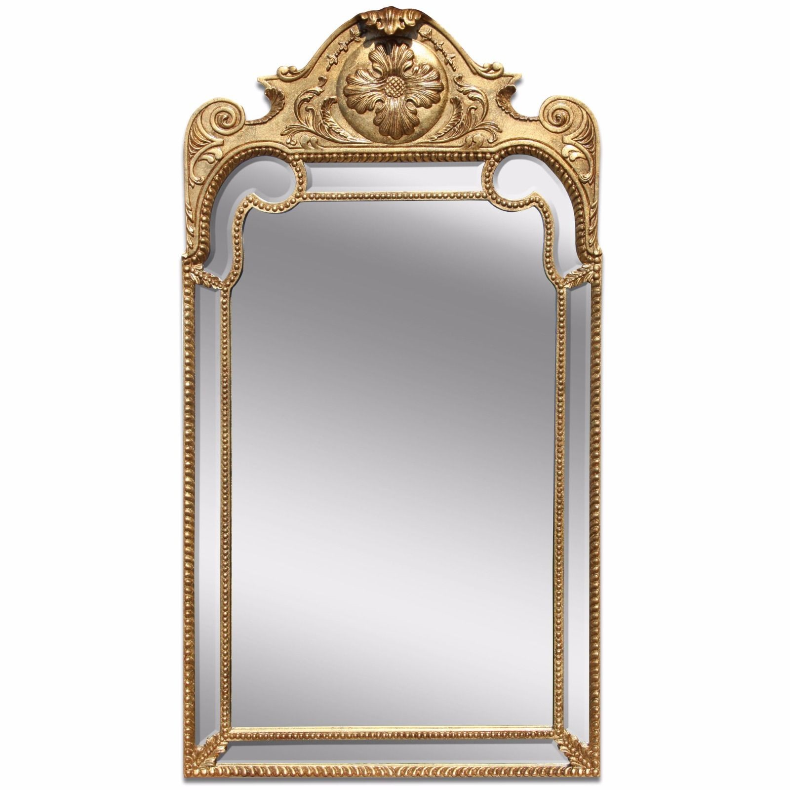 Queen Anne style giltwood mirror