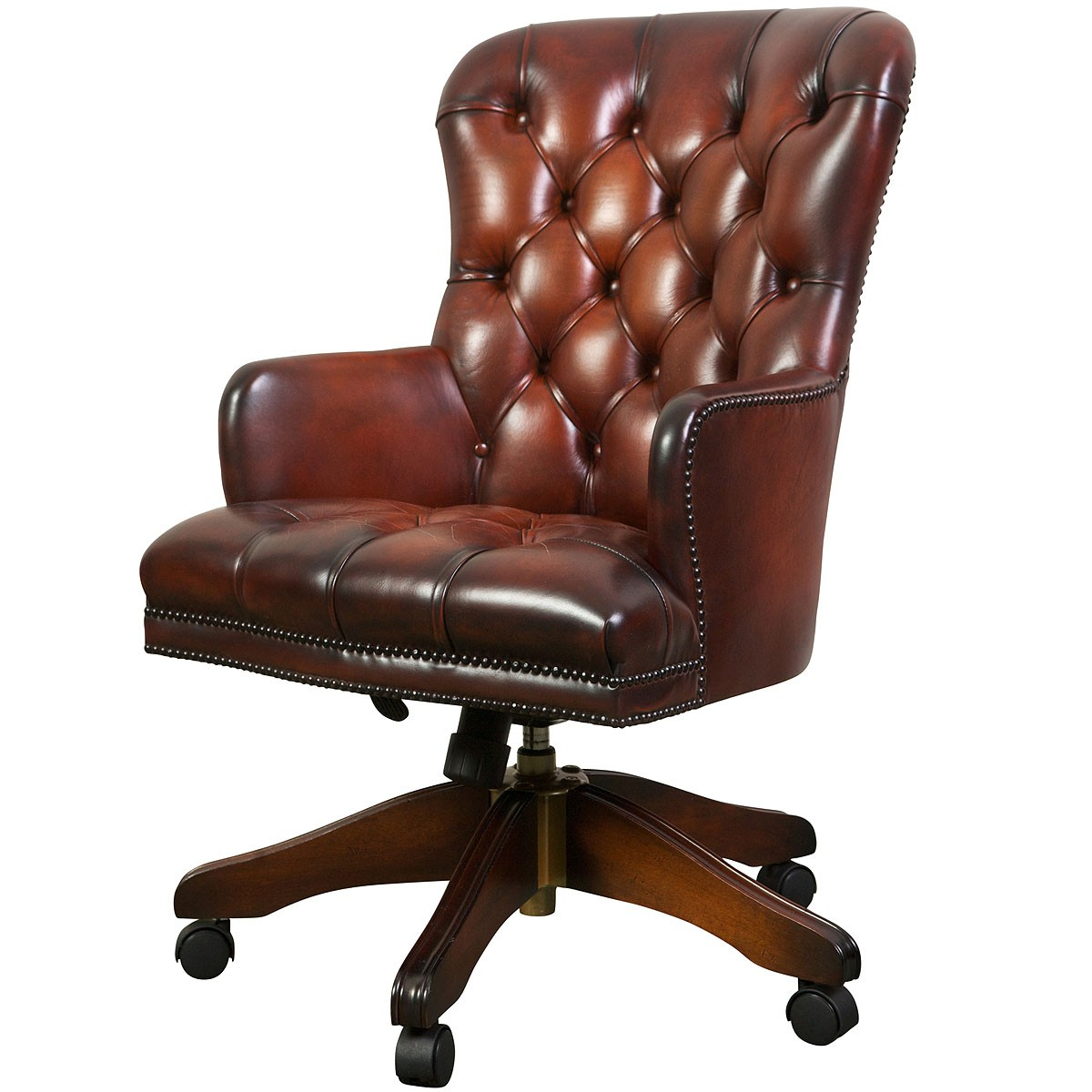 Queen Anne Swivel Chair, Desk Chairs From Brights Of Nettlebed