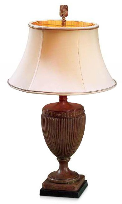 Red and gold table lamp