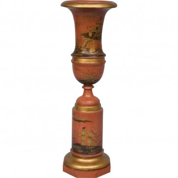 Red Chinosierie Urn