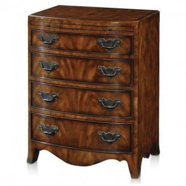 Regency style bow fronted chest