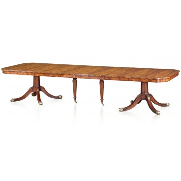 Regency style extending mahogany dining table