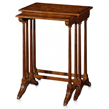 Regency style nest of two ash burl tables