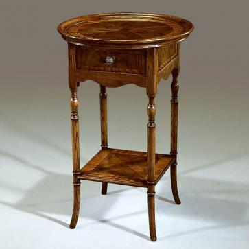 Regency style tray top lamp table