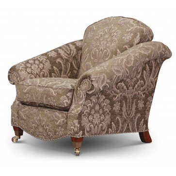 Renoir chair in grey-green chenille