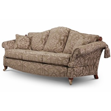 Renoir Knole 3 seat sofa in grey-green chenille