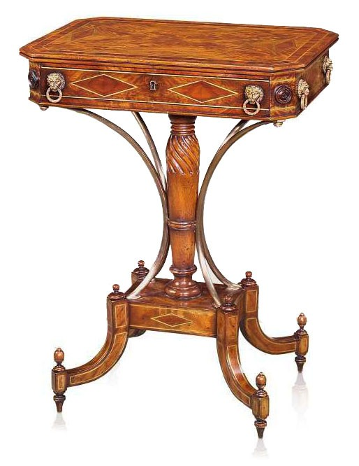 Replica mahogany lozenge side table