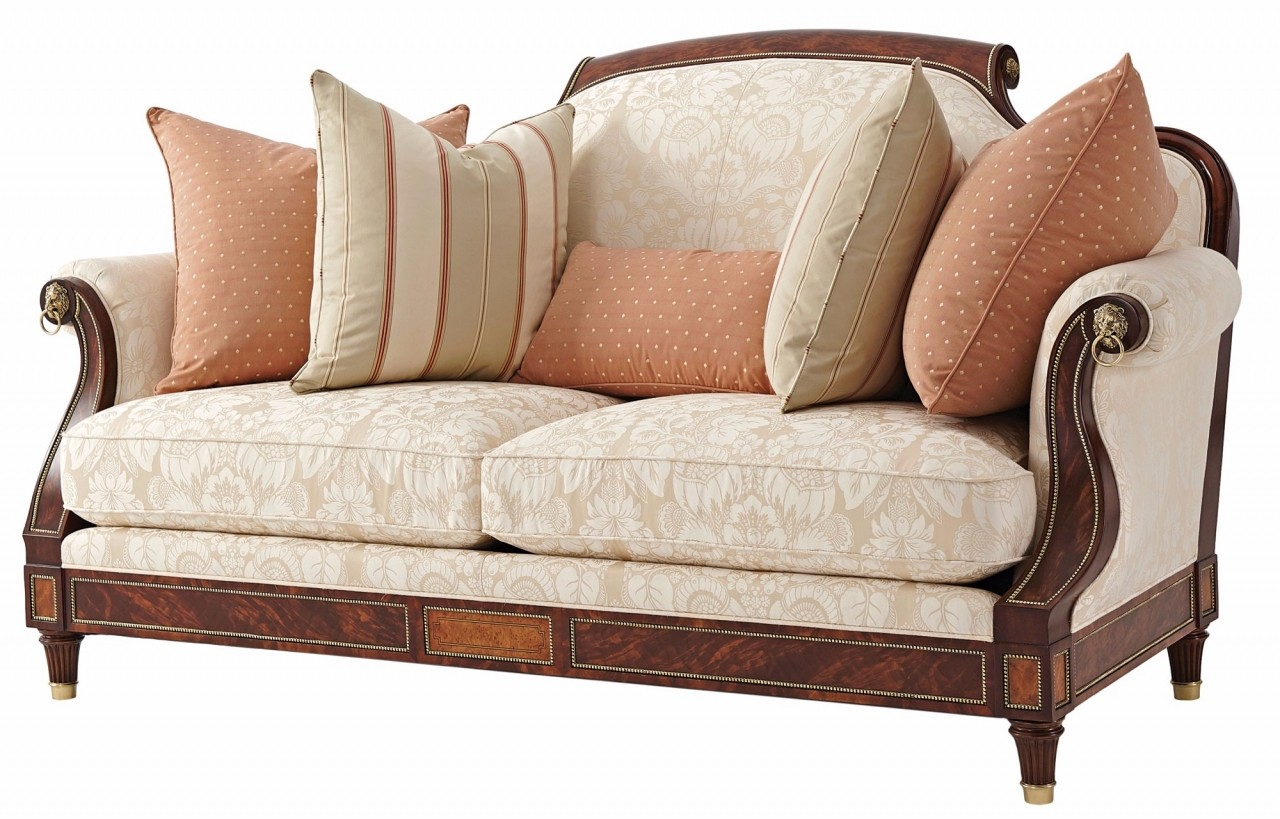 Reynolds Small Sofa In Cotton Jacquard Fabric Sofas In