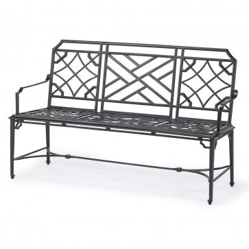 Rissington metal garden bench