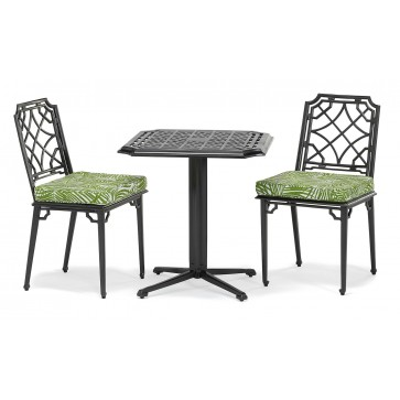 Rissington metal outdoor pedestal set