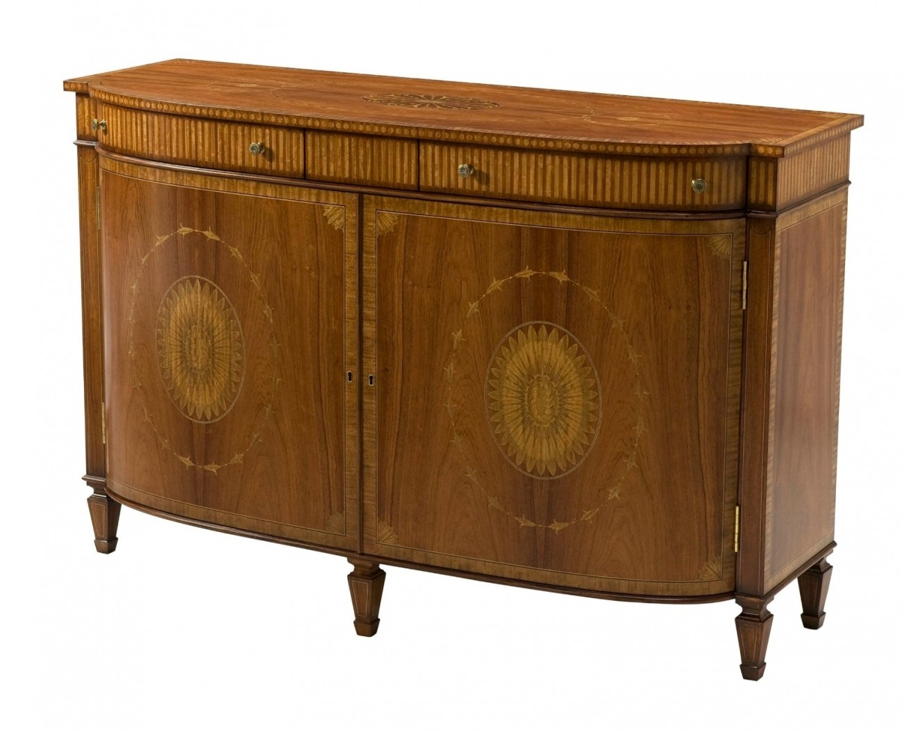 Rosewood marquetry inlaid side cabinet