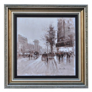 Rue de Grenelle Paris, framed oil painting
