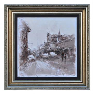 Rue de Maubeuge Paris, framed oil painting