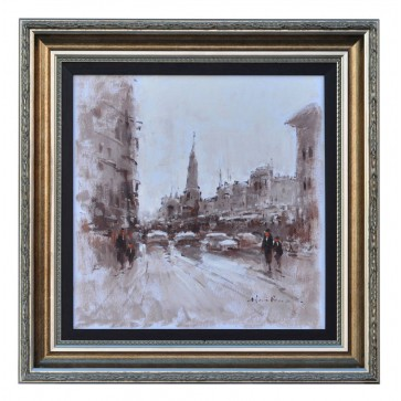 Rue de St Martin Paris, framed oil painting
