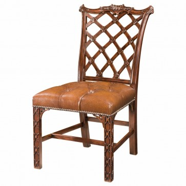 rustic mahogany dining side chair