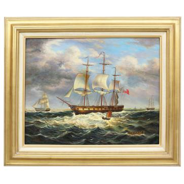 Sailing ship in Strong wind