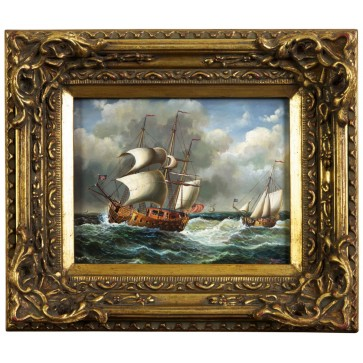 Sailing Ship on Rough Sea