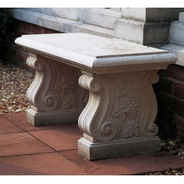Scroll stone bench
