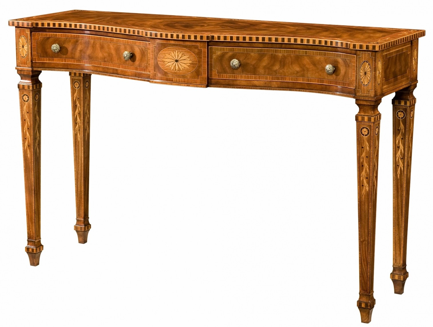 console table mahogany serpentine mahogany console table console tables 2443