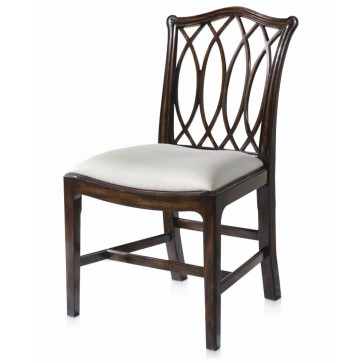 Serpentine pierced dining chair