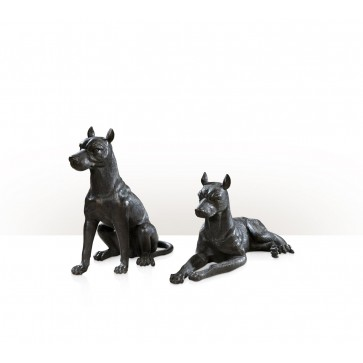 set of two models of Doberman dogs