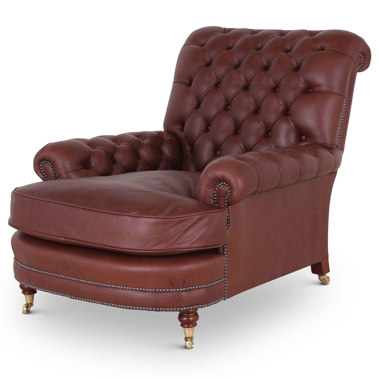 Shaftesbury antique style buttoned leather chair