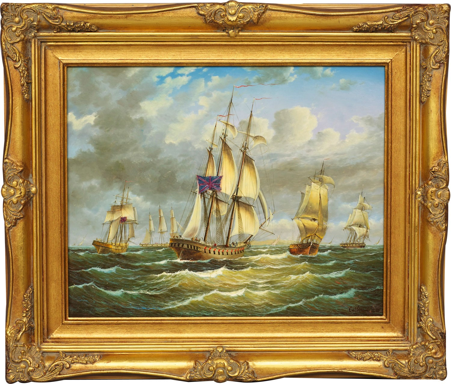 Ships Framed Oil Painting Marine Amp Beach Scenes From