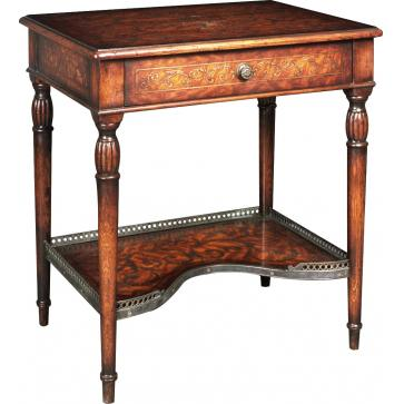 Side table with marquetry