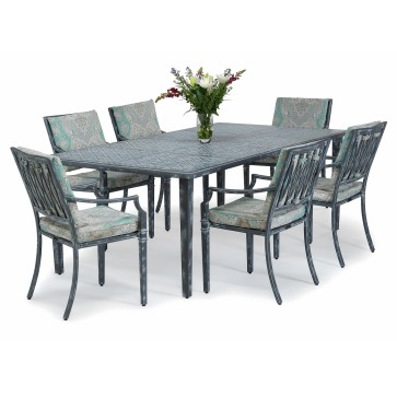 Sienna metal outdoor dining set