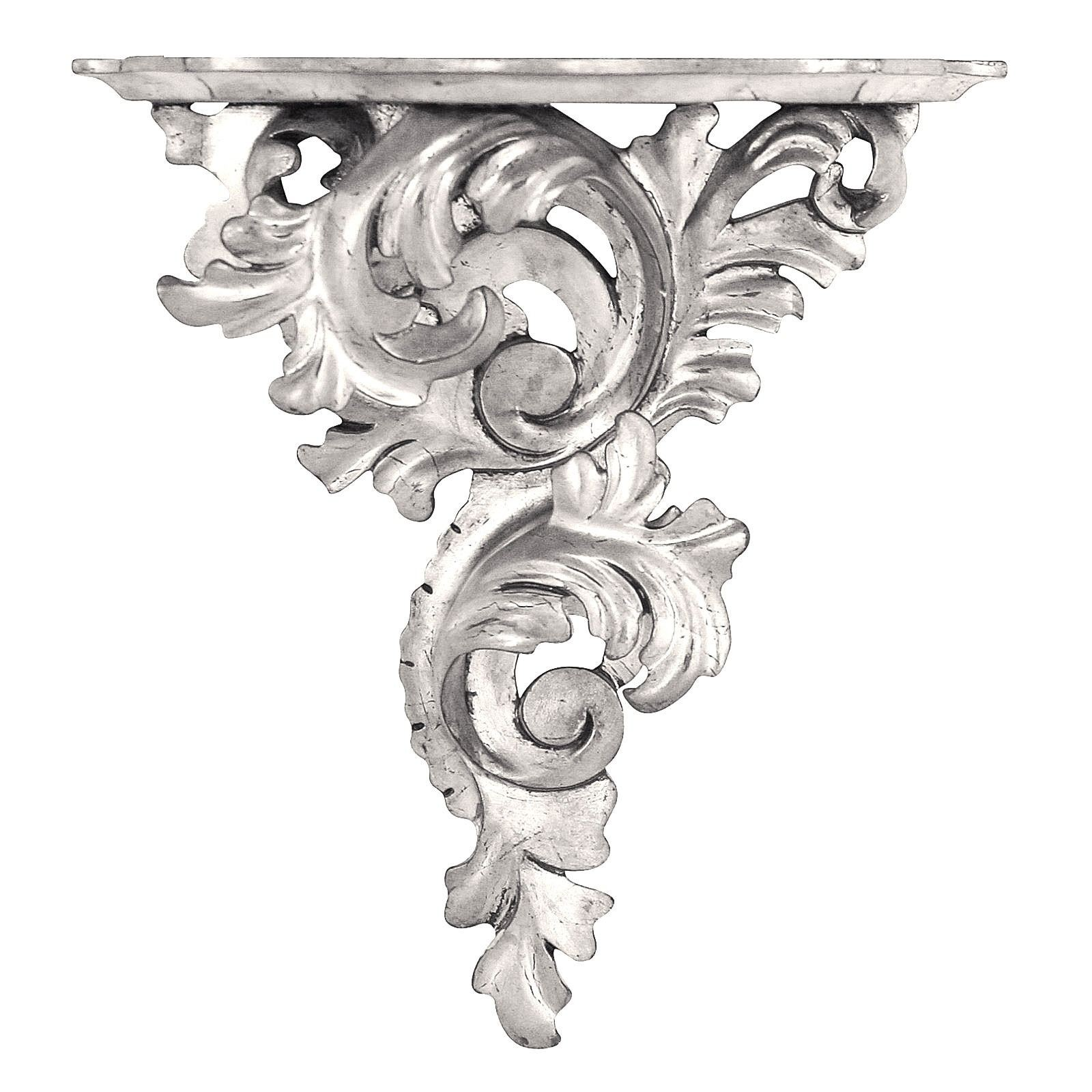 Silver leaf wall bracket - large, left facing