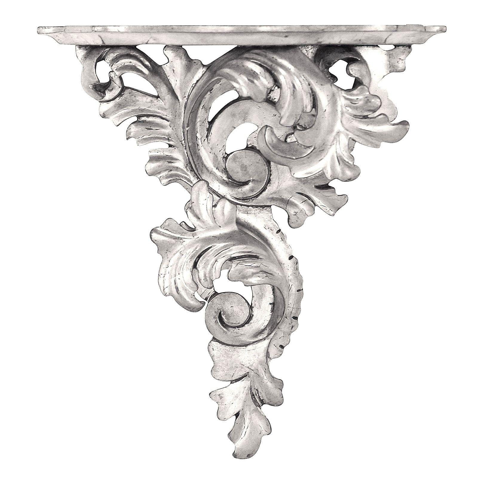 Silver leaf wall bracket - large, right facing