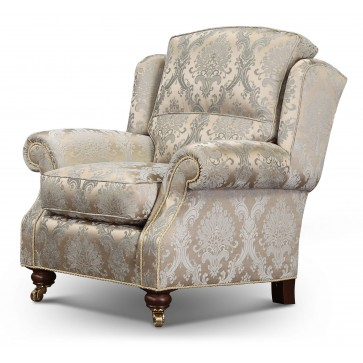 Skye chair in luxurious damask