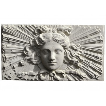 Soane Apollo Sunburst stone wall Plaque - Portland