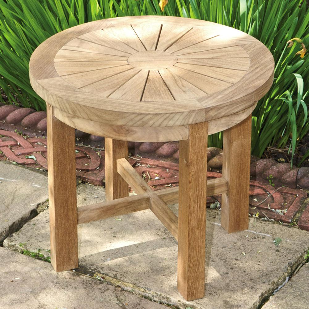Solid teak occasional table