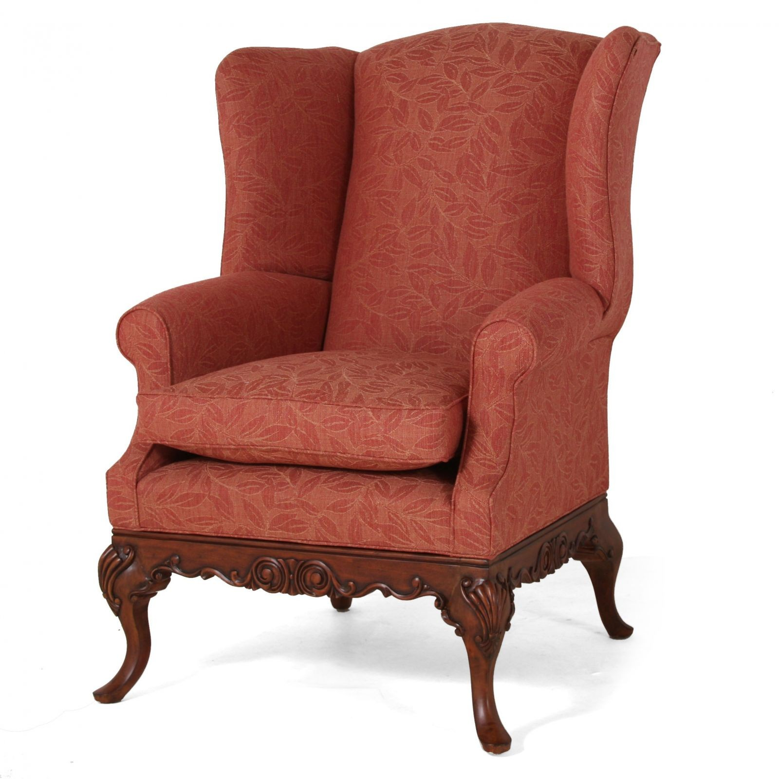Sonning wing chair in Scottish Wool - Leaf Rust
