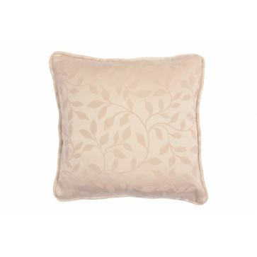 Square 12in. small scatter cushion in natural floral weave